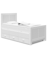 Thomasville Kids Milo Twin Captain Bed with Storage Drawers, White