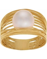 PearLustre by Imperial 14k Gold Freshwater Cultured Pearl Woven Ring, Women's, Size: 7, White