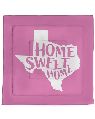 Spectacular Sales For Texas Home Sweet Single Reversible Comforter East Urban Home Color Pink