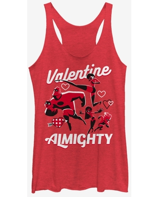 Disney Pixar The Incredibles Valentine Almighty Womens Tank Top