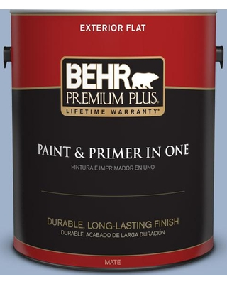 BEHR Premium Plus 1 gal. #S530-3 Aerial View Flat Exterior Paint and Primer in One