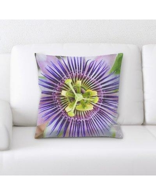 East Urban Home Passion Flower Throw Pillow W000702037