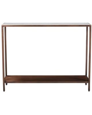 Bottego Collection DR-1320-50 Console Table with Iron Frame in Brown