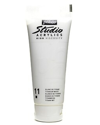 Pebeo Studio Acrylic Paint Titanium White 100 Ml [Pack Of 3] (3PK-831-011)