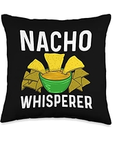 Best Nacho Beef Cheese Tortillas Corn Meal Designs Cool Nacho Gift For Men Women Taco Chips Mexican Snack Food Throw Pillow, 16x16, Multicolor
