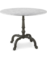 """La Coupole Iron Bistro Table with Marble Top, Round, 42"""""""