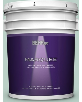BEHR MARQUEE 5 gal. #S420-2 Moon Glass Eggshell Enamel Interior Paint and Primer in One
