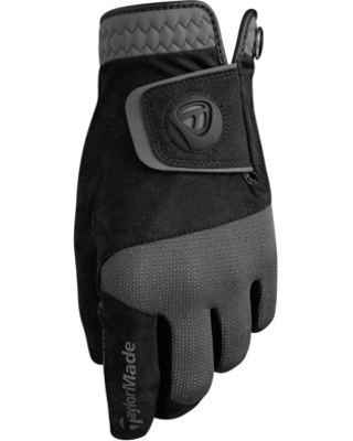 TaylorMade Rain Control Golf Gloves (Black/Gray), Medium
