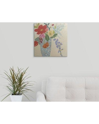 """Great Big Canvas 'Spring Blossoms II' Chariklia Zarris Painting Print 2181922_1 Size: 16"""" H x 16"""" W x 1.5"""" D Format: Canvas"""