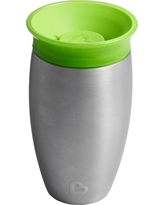 Munchkin Miracle 10oz Stainless Steel 360 Sippy Cup - Green