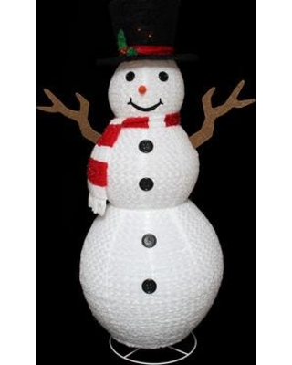 Shopping Special For Northlight Seasonal Pre Lit Outdoor Chenille Swirl Large Snowman Christmas Decoration Resin Plastic Plastic In White Size X Large Over 3