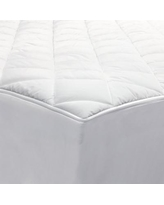 Allerease 2-in-1 Zippered Mattress Protector & Luxury Mattress Pad, White, Queen