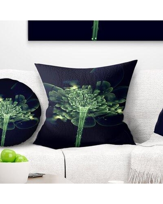 """East Urban Home Floral Fractal Flower in Air Throw Pillow VSIF7170 Size: 18"""" x 18"""" Product Type: Throw pillow"""