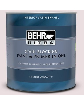 BEHR ULTRA 1 qt. Home Decorators Collection #HDC-CT-08 Pink Posey Extra Durable Satin Enamel Interior Paint & Primer