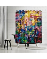 East Urban Home OLena Art Abstract Colorful World Shower Curtain ETHH4165