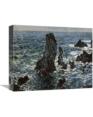 """East Urban Home 'Rocks at Belle Isle' Print on Canvas ESUH1191 Size: 13"""" H x 16"""" W x 2"""" D"""