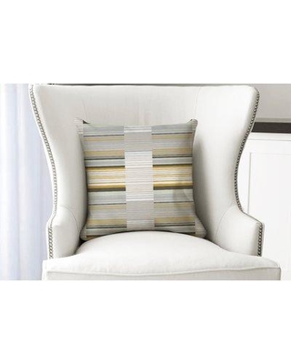 """Ebern Designs Thursa Lt Throw Pillow ENDE3972 Size: 18"""" x 18"""" Location: Indoor Use Only Color: Yellow/Gray/Green"""