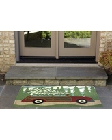 """The Holiday Aisle Hand-Tufted Indoor/Outdoor Area Rug HLDY7233 Rug Size: 2'6"""" x 4'"""