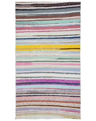 """One-of-a-Kind Hand-Knotted 1960s Beige 5'8"""" x 9'11"""" Area Rug"""