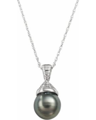 Sterling Silver Tahitian Cultured Pearl Pendant, Women's, Black