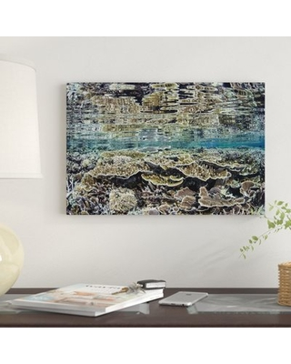 """'Fragile Corals Grow in Shallow Water in Komodo National Park III' Graphic Art Print on Canvas East Urban Home Size: 18"""" H x 26"""" W x 0.75"""" D"""
