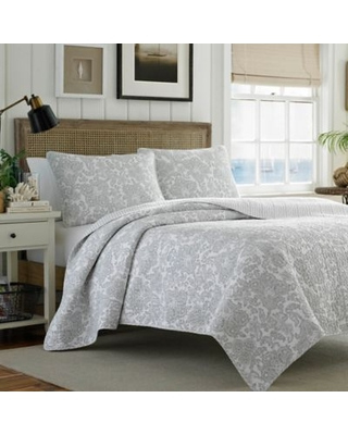 Tommy Bahama® Island Memory 3-Piece Reversible King Quilt Set in Grey