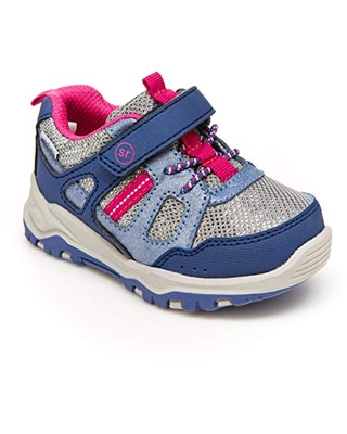Stride Rite 360 Toddler and Little Girl's Artin 2.0 Athletic Sneaker, Blue Pink, 5M