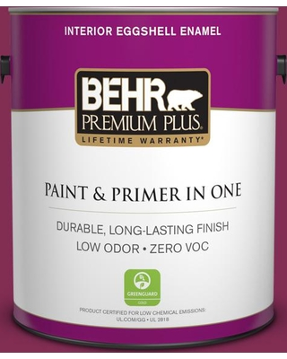 BEHR PREMIUM PLUS 1 gal. #M130-7 Sugar Beet Eggshell Enamel Low Odor Interior Paint and Primer in One