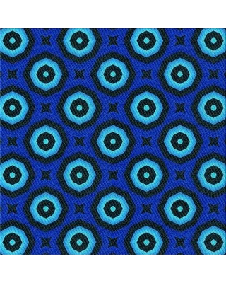 East Urban Home Geometric Wool Blue Area Rug X111359216 Rug Size: Square 4'