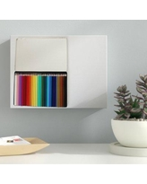 """Ebern Designs 'Colored Pencils in a Box' Photographic Print on Wrapped Canvas BI040077 Size: 20"""" H x 30"""" W x 2"""" D"""