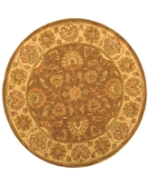Shop Safavieh Heritage Brown Ivory 8 Ft X 8 Ft Round Area Rug