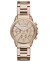 Armani Exchange Ladies Lady Banks Stainless Steel Watch, Color: Rose gold (Model: AX4326)