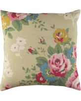 "Ophelia & Co. Aleena Throw Pillow OPCO1490 Size: 20"" H x 20"" W x 3.5"" D, Fill Material: Poly Fill, Color: Biege/Pink"