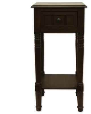 Decor Therapy Simplify 1-Drawer Square Accent Table in Brown