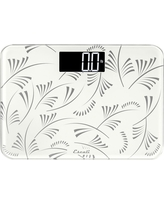 Floral Personal Scale White - Escali, Clear