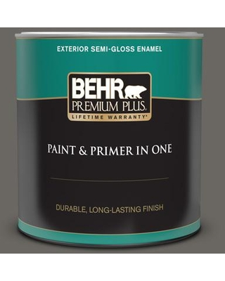 Get This Deal On Behr Premium Plus 1 Qt Ppu24 03 Chinchilla Semi Gloss Enamel Exterior Paint And Primer In One