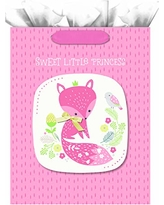 """Hallmark 15"""" Extra Large Gift Bag with Tissue Paper (Sweet Little Princess Fox) for Baby Showers, Kids Birthdays, and More"""