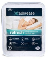 AllerEase White Refresh Allergy Protection Mattress Pad