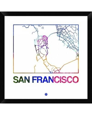 Great Deal on Naxart San Francisco Watercolor Street Map Framed