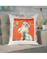 "Brayden Studio Enciso Vintage Animal Kindness Double Sided Print Pillow BSTU2923 Size: 14"" x 14"", Type: Pillow Cover, Material: Cotton"