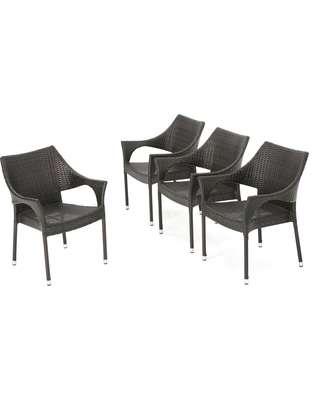 Mirage 4pk Wicker Stacking Chairs