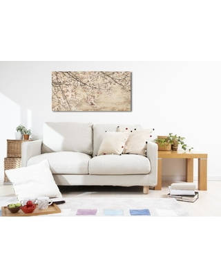 The Oliver Gal Artist Co. 18 in. H x 36 in. W 'sai - Gentle Blossom' by Oliver Gal Framed Canvas Wall Art, Beige;White;Brown
