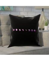 """Brayden Studio Enciso Moon Phases Square Pillow Cover BYST5879 Size: 14"""" x 14"""", Color: Purple"""