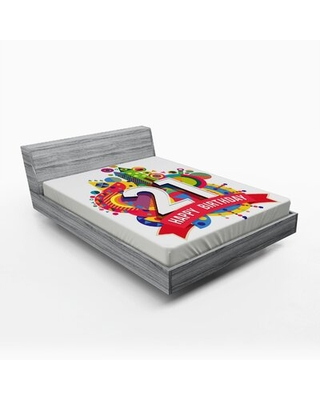 21St Birthday Fitted Sheet East Urban Home Size: Full