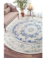 nuLOOM Traditional Vintage Distressed Persian Blue Area Rugs, 5', Blue