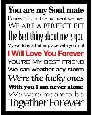 """PicturePerfectInternational """"I Will Love You Forever II"""" Framed Textual Art 704-3121 Size: 17.5"""" H x 13.5"""" W x 1"""" D"""
