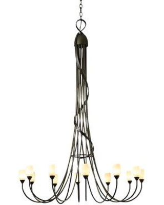 New Deals On Hubbardton Forge Flora 12 Light Shaded Classic Traditional Chandelier Finish Black Shade Metal In Opal Size 59 H X 43 W Wayfair