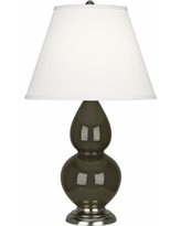 Robert Abbey Brown Tea and Silver Table Lamp