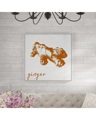 August Grove 'Ginger' Framed Graphic Art Print on Canvas BF066109