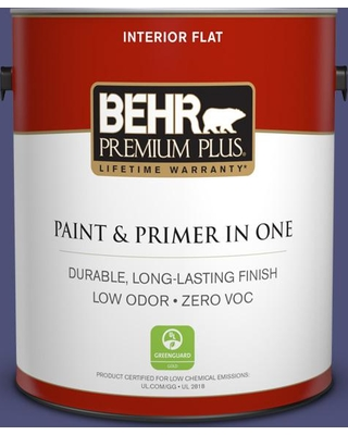 BEHR Premium Plus 1 gal. #630D-7 Deep Orchid Flat Low Odor Interior Paint and Primer in One